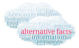 Alternative Facts Word Cloud Stock Photography