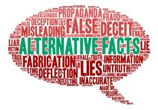Alternative Facts Word Cloud Stock Photo