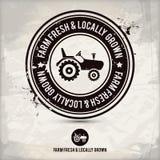 Alternative farm fresh & locally grown stamp Royalty Free Stock Photos