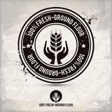 Alternative fresh-ground flour stamp Royalty Free Stock Image