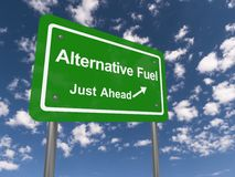 Alternative fuel just ahead Royalty Free Stock Photo