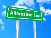 Alternative fuel sign Royalty Free Stock Photos