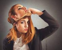 Alternative gegen gutes Mädchen lizenzfreies stockfoto