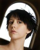 Alternative girl portrait in portrait Stock Photo