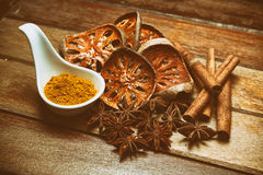 Alternative health care dried various herbs Stock Image