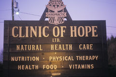 Alternative healthcare clinic sign Royalty Free Stock Photo