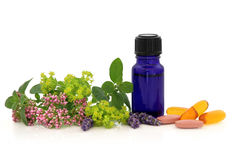Alternative Herb Therapy Stock Images