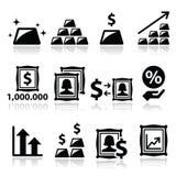 Alternative Investitionen - Investierung des Geldes in den Gold- und Kunstikonen vektor abbildung