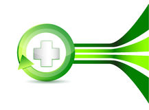 Alternative medication concept - medical cross Stock Image