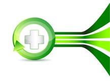 Alternative medication concept - medical cross Stock Image