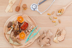 Alternative Medicinal herbs for herbal medicine for healthy . Stock Image