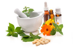 Alternative medicine stock image