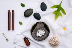 Alternative medicine and aromatherapy bottle of essential oil wi Stock Images