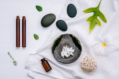 Alternative medicine and aromatherapy bottle of essential oil wi Royalty Free Stock Photos