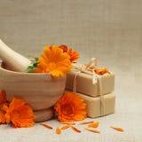 Alternative medicine background Stock Photo