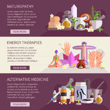 Alternative Medicine Banners Stock Photography