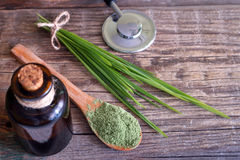 Alternative medicine concept with diet supplements Royalty Free Stock Photography