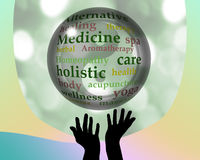 Alternative medicine crystal ball Stock Photos