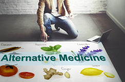 Alternative Medicine Health Herb Therapy Concept Stock Image