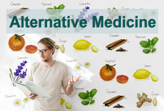 Alternative Medicine Health Herb Therapy Concept Royalty Free Stock Images