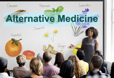 Alternative Medicine Health Herb Therapy Concept Royalty Free Stock Photos