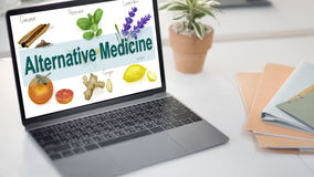Alternative Medicine Health Herb Therapy Concept Royalty Free Stock Image