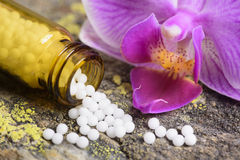 Alternative medicine with homeopathy royalty free stock photo
