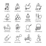 Alternative Medicine Icons Set Royalty Free Stock Photography