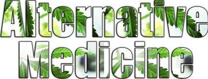Alternative Medicine Logo With White Background royalty free stock image