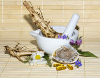 Alternative medicine still life Royalty Free Stock Photography