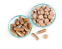 Alternative medicine tablets Royalty Free Stock Images