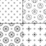 Alternative medicine vector pattern. Set alternative medicine vector pattern with symbols of ayurvedic medicine and medicine herbs treatment. Patterns for Stock Photos