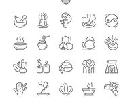 Alternative medicine Well-crafted Pixel Perfect Vector Thin Line Icons 30 2x Grid for Web Graphics and Apps. royalty free illustration