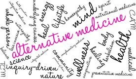 Alternative Medicine Word Cloud. On a white background Stock Images