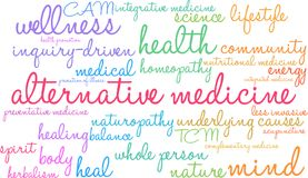 Alternative Medicine Word Cloud. On a white background Stock Photography