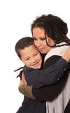 Alternative mother and son Royalty Free Stock Photos