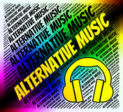 Alternative Music Means Sound Track And Alternates Stock Photography
