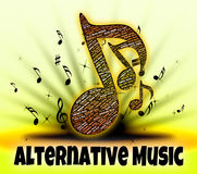 Alternative Music Represents Sound Tracks And Acoustic Stock Photos