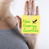 Alternative New Energy Sources. Alternative energy sources concept words Royalty Free Stock Image