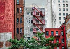 Alternative New York. Buildings in the street. Royalty Free Stock Photography
