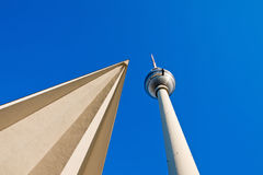 Alternative perspective of the Television Tower Stock Photography