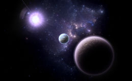 Alternative planetary system Royalty Free Stock Photos