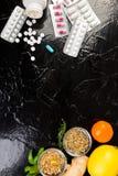 Natural medicine vs conventional medicine concept. Royalty Free Stock Image