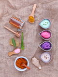 Alternative skin care and homemade scrubs with natural ingredien Stock Image