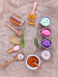 Alternative skin care and homemade scrubs with natural ingredien Stock Photos