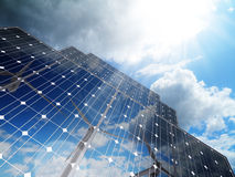 Alternative solar energy. Renewable, alternative solar energy,green business Stock Photography