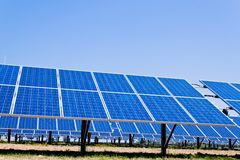 Alternative solar energy. solar energy power Royalty Free Stock Photo