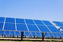 Alternative solar energy. solar energy power Royalty Free Stock Photo