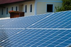 Alternative solar energy. solar energy power Stock Images
