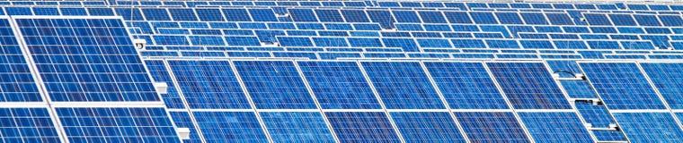 Alternative Solar Energy. Solar power plant. Stock Image